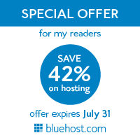THE hosting offer 42% off at 3.95 a month websitehosting price from bluehost.COM